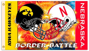 Husker/Hawkeye House Divided Flag